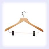 Shaped (Square Neck) Suit Hanger (With Clips)
