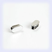Oval End Cap - 30mm x 15mm (Box 100)